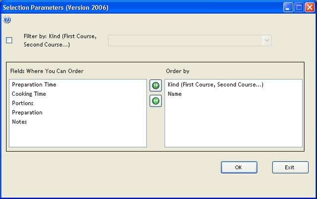 Catalog export filters