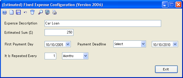 Repetitive periodic expenses
