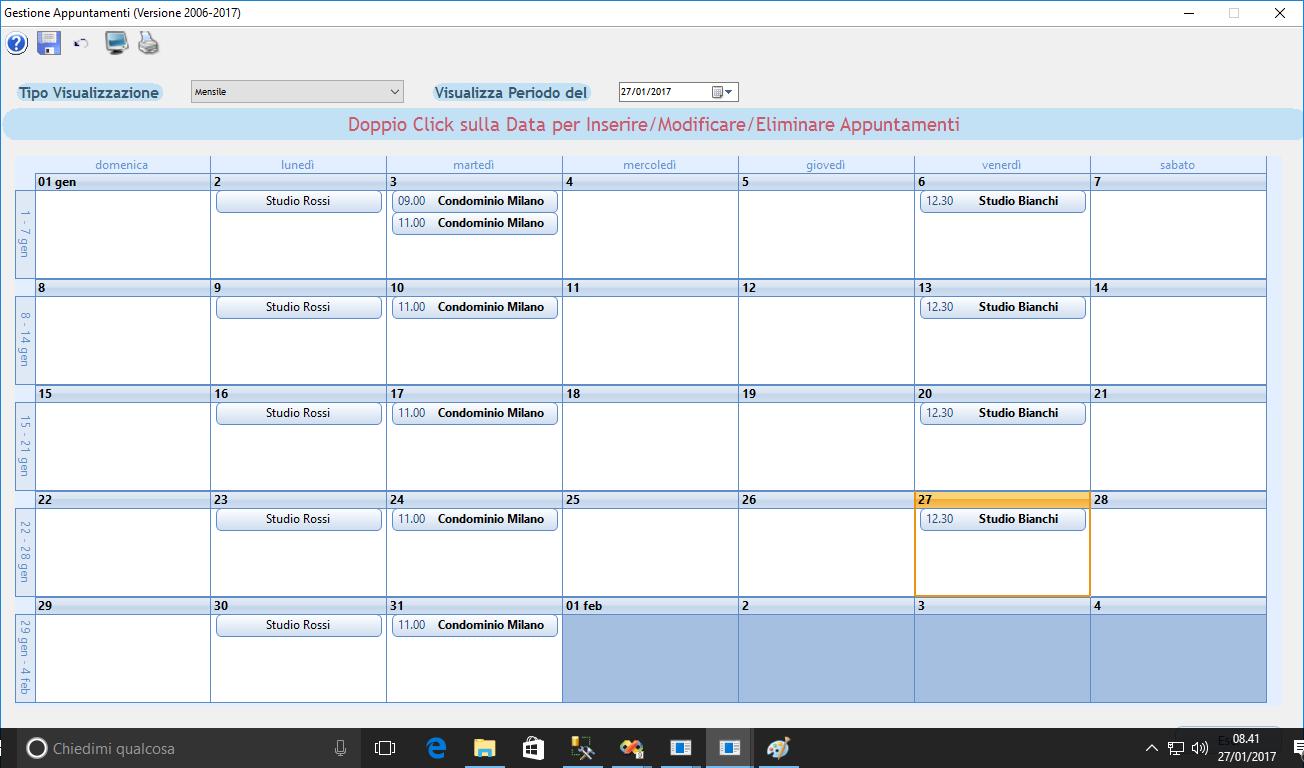 software gestione visite ed appuntamenti impresa pulizia